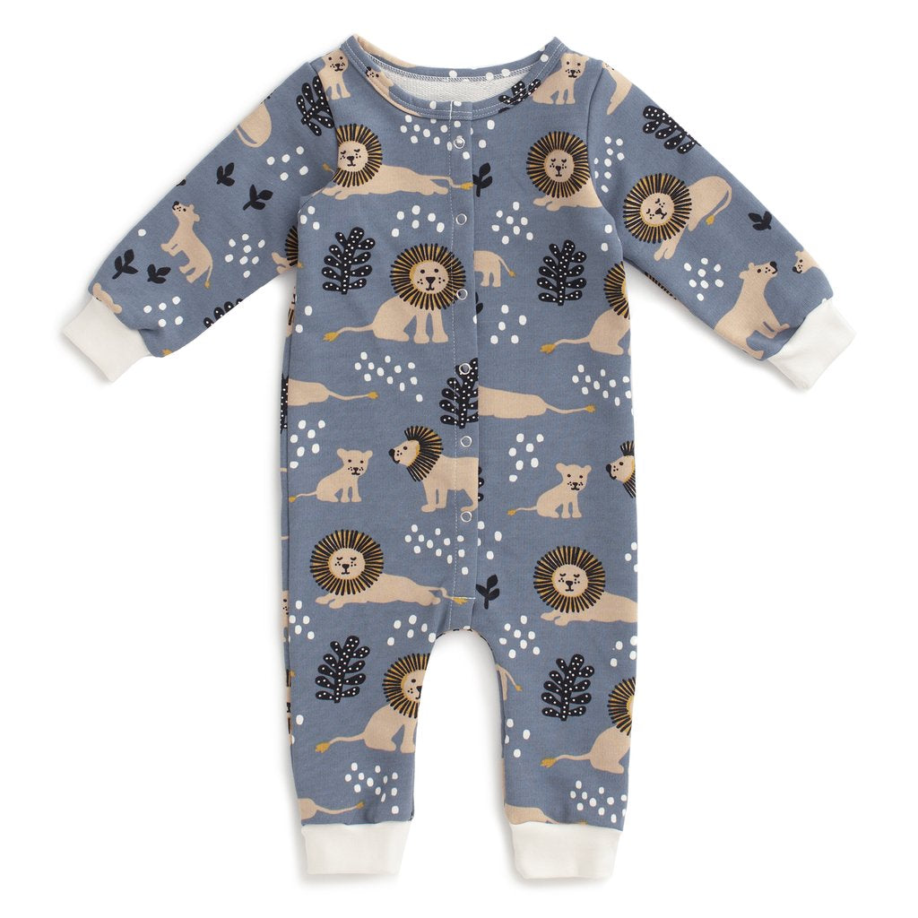 Winter Water Factory French Terry Jumpsuit - Lions Slate Blue