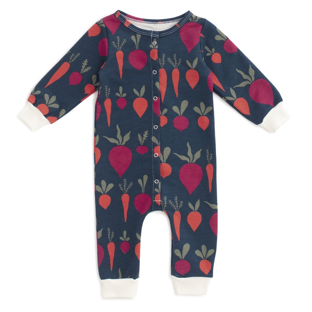 Winter Water Factory French Terry Jumpsuit - Root Vegetables Night Sky