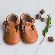 Pecan T Bar Leather Moccasin