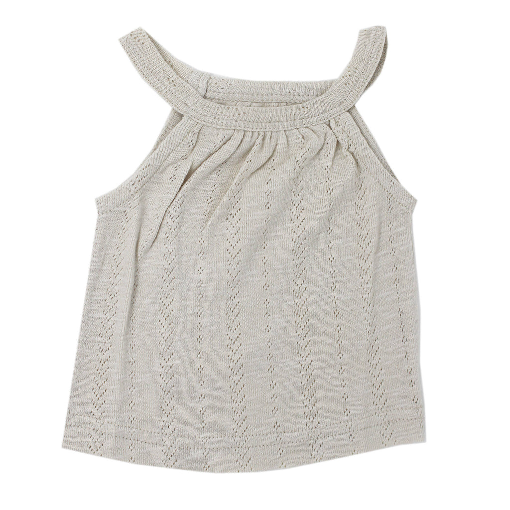 L'ovedbaby Organic Pointelle Halter Tank and Tap Shorts Set in Stone