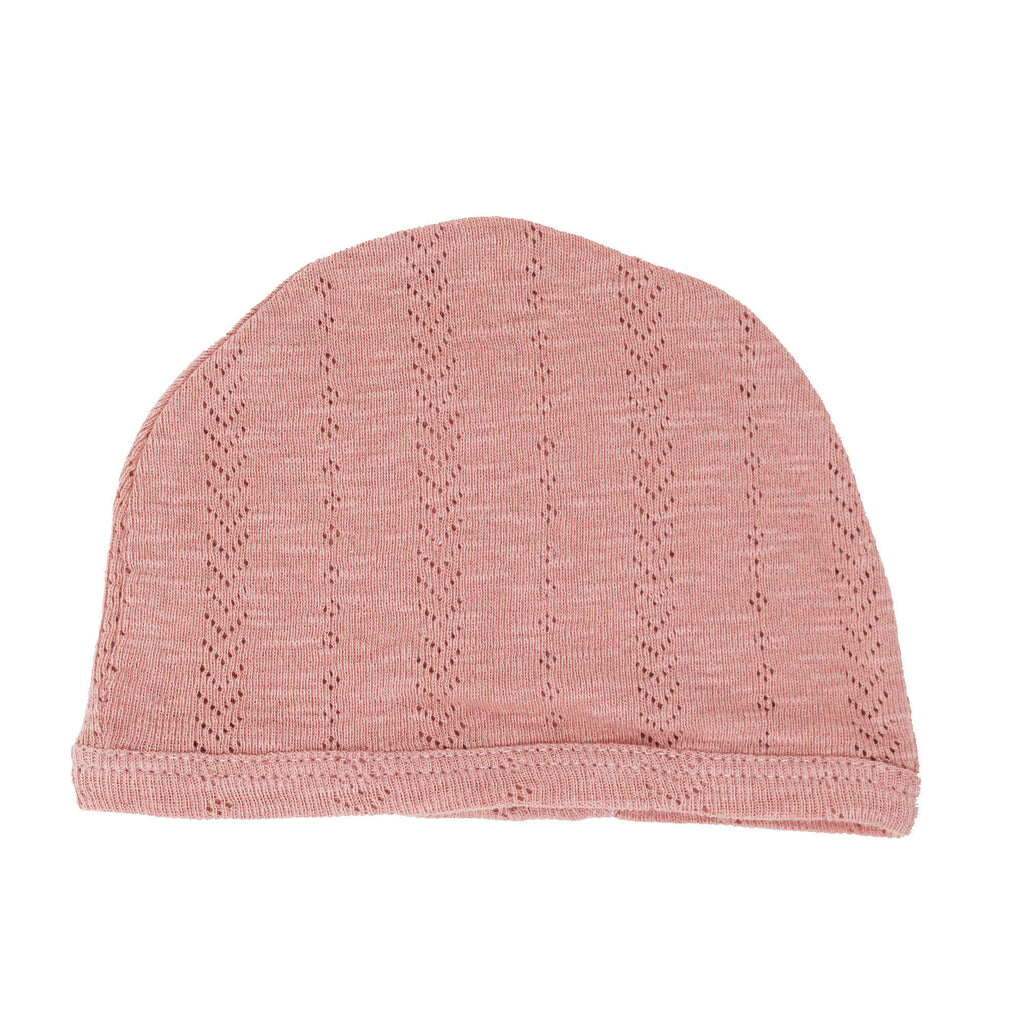 L'ovedbaby Organic Pointelle Hat in Mauve