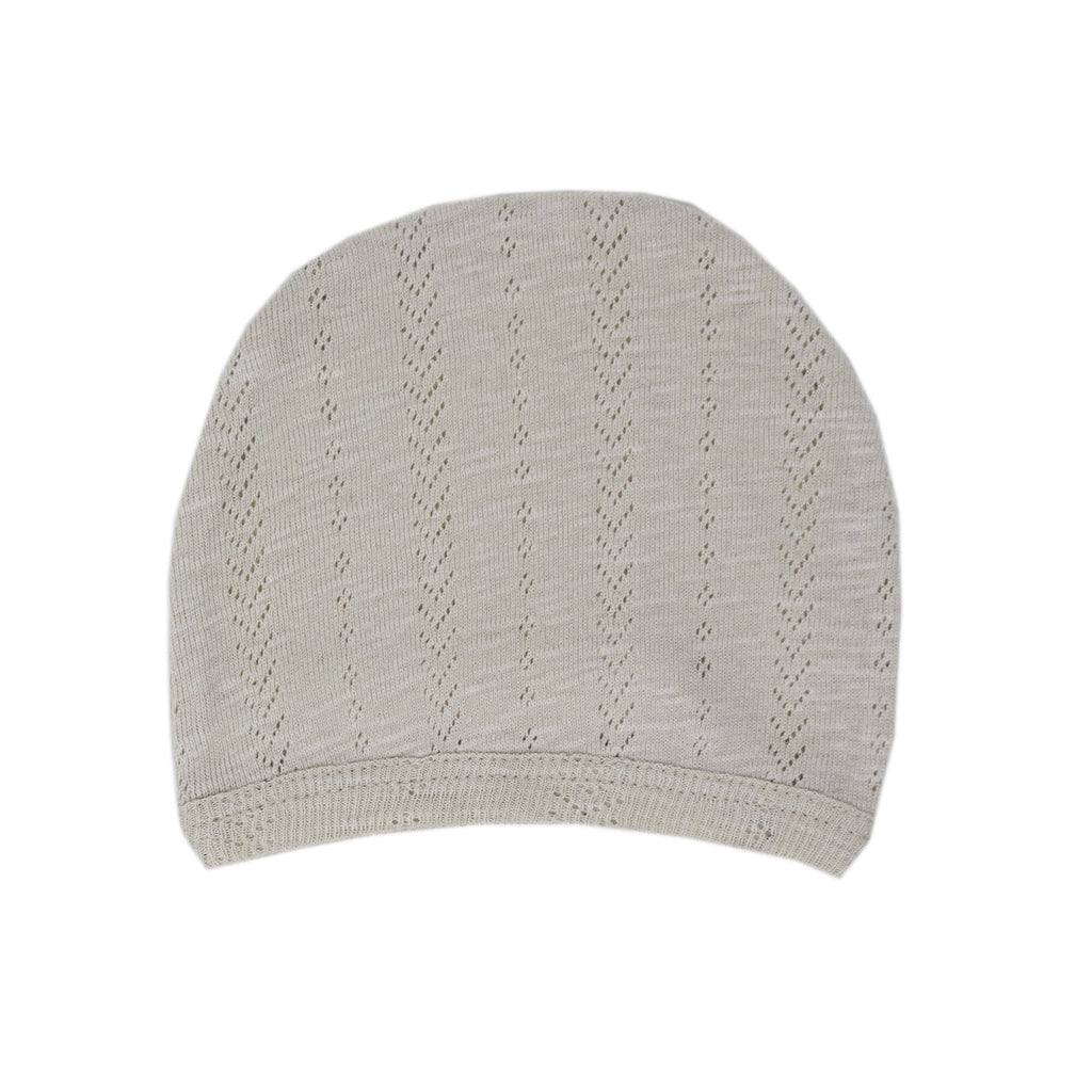 L'ovedbaby Organic Pointelle Hat in Stone