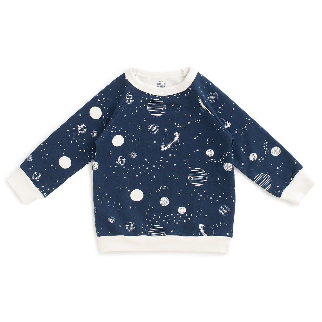 Winter Water Factory Sweatshirt - Planets Night Sky