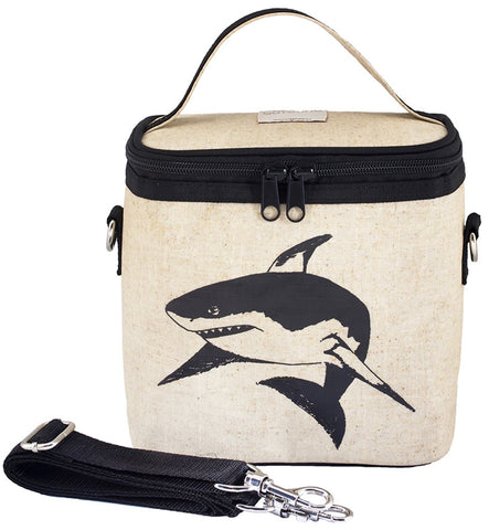 So Young Raw Linen Small Cooler Bag - Black Shark