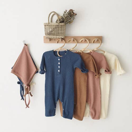 Earth Romper with Hat - Navy