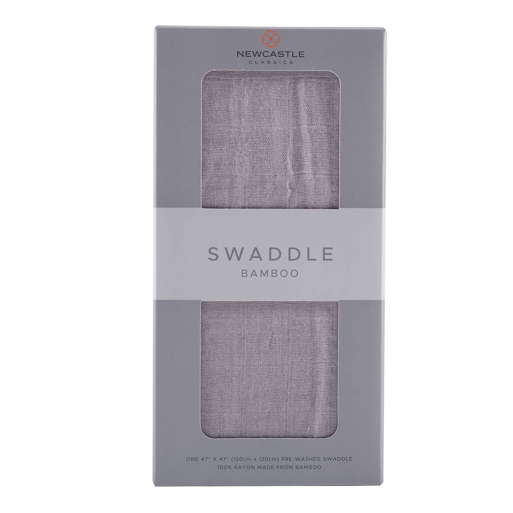 Solid Grey Bamboo Swaddle