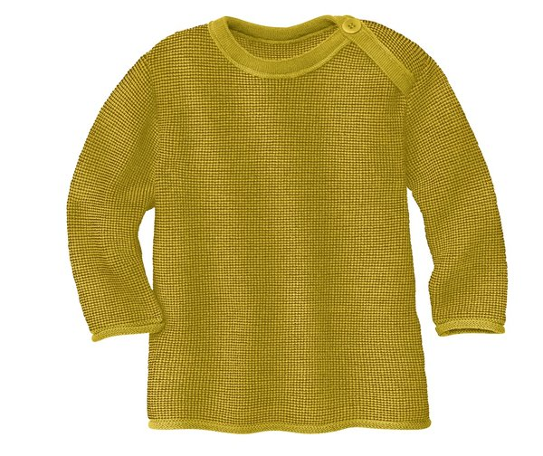 Disana Knitted Wool Jumper Sweater - Curry Gold