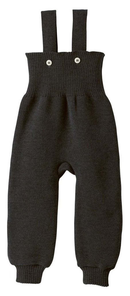 Disana Knitted Wool Overalls - Anthracite