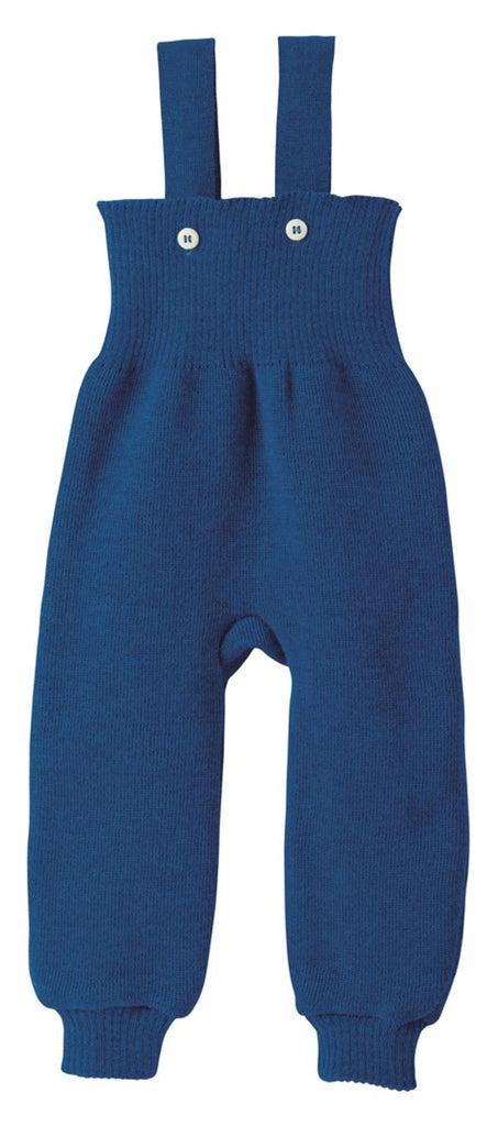 Disana Knitted Wool Overalls - Navy