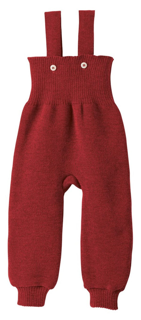 Disana Knitted Wool Overalls - Bordeaux
