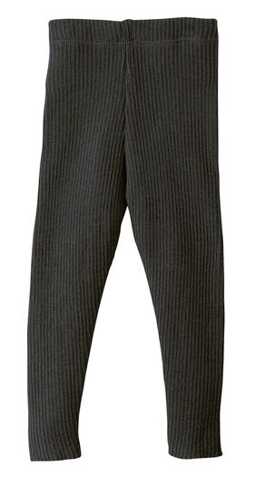 Disana Knitted Organic Woolen Leggings - Anthracite