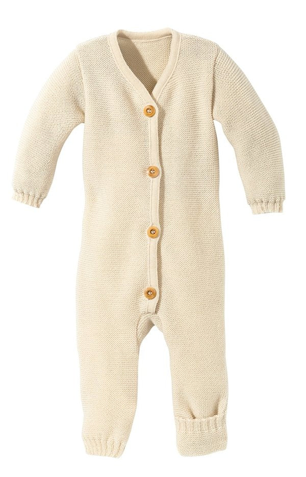 Disana Knitted Wool Romper - Natural
