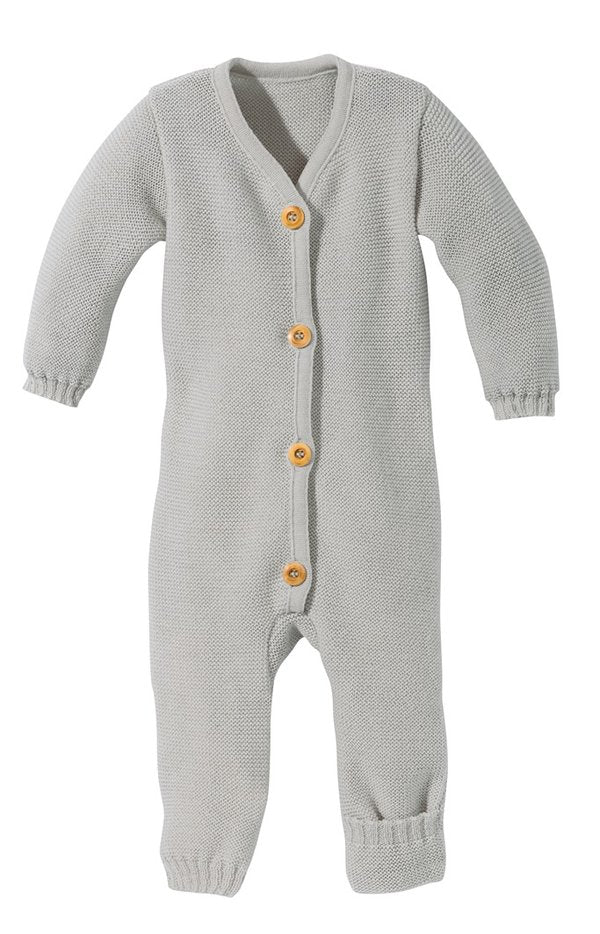 Disana Knitted Wool Romper - Grey