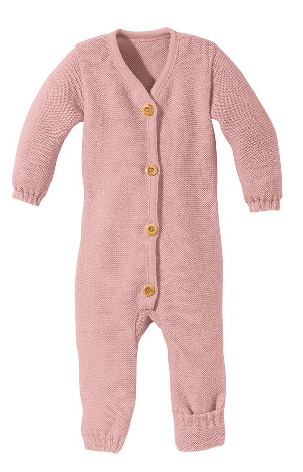 Disana Knitted Wool Romper - Rose