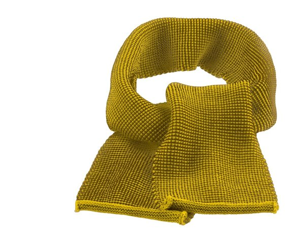 Disana Knitted Merino Wool Scarf - Curry