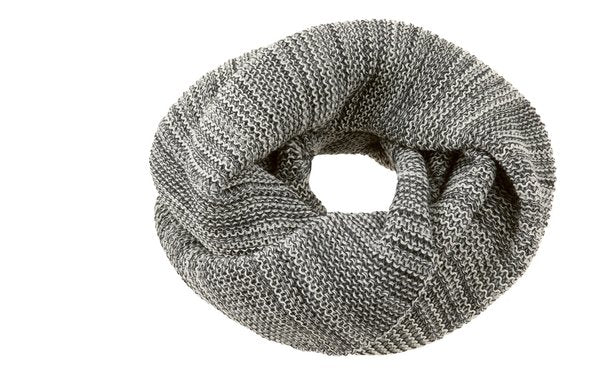 Disana Knitted Merino Wool Loop Scarf - Anthracite