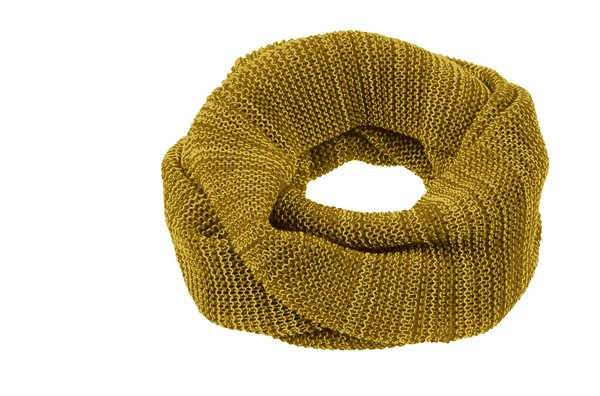 Disana Knitted Merino Wool Loop Scarf - Curry
