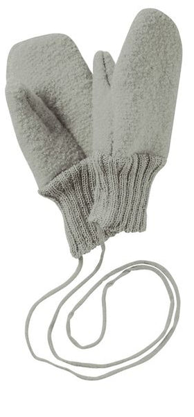 Disana Boiled Wool Mittens - Grey