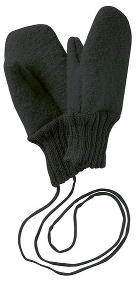 Disana Boiled Wool Mittens - Anthracite