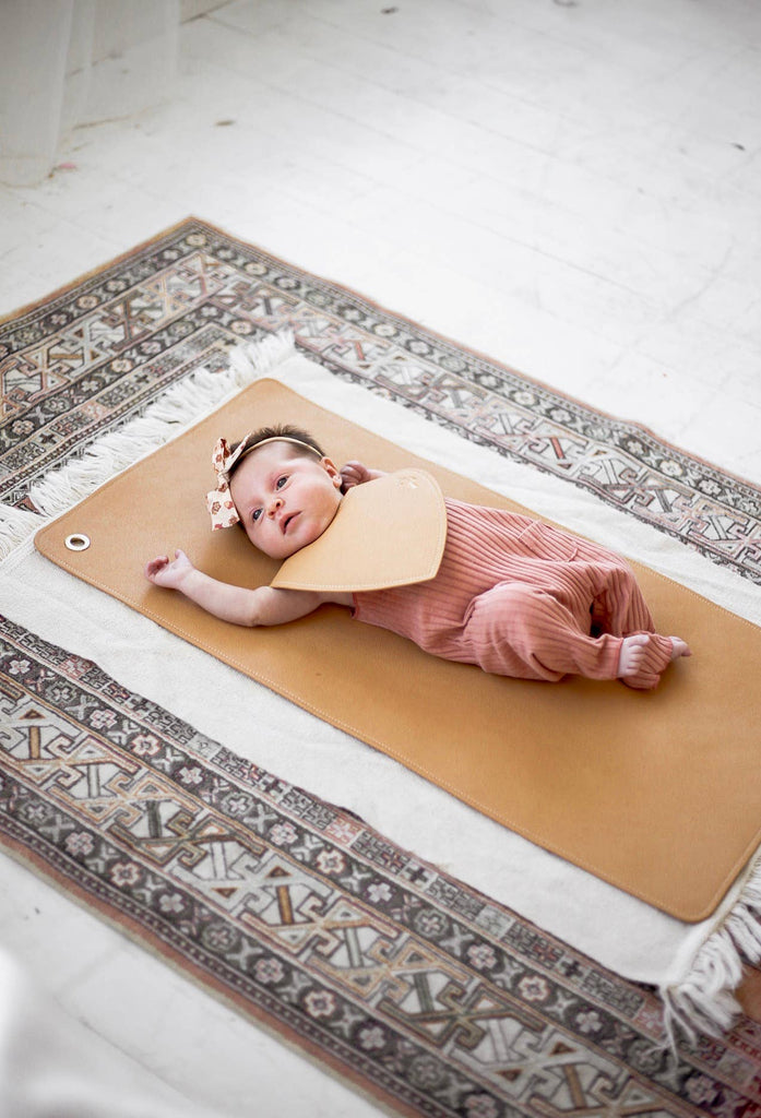 Vegan Leather Changing Mat - Desert Sand