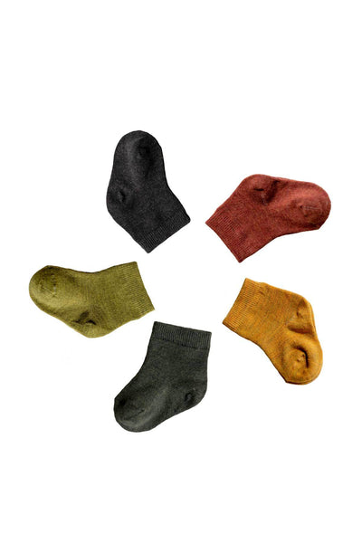 Nui Organics Merino Nature Infant Socks - 5 pack