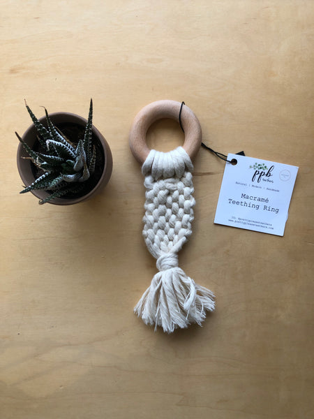 Pretty Please Remi Macrame Teething Ring
