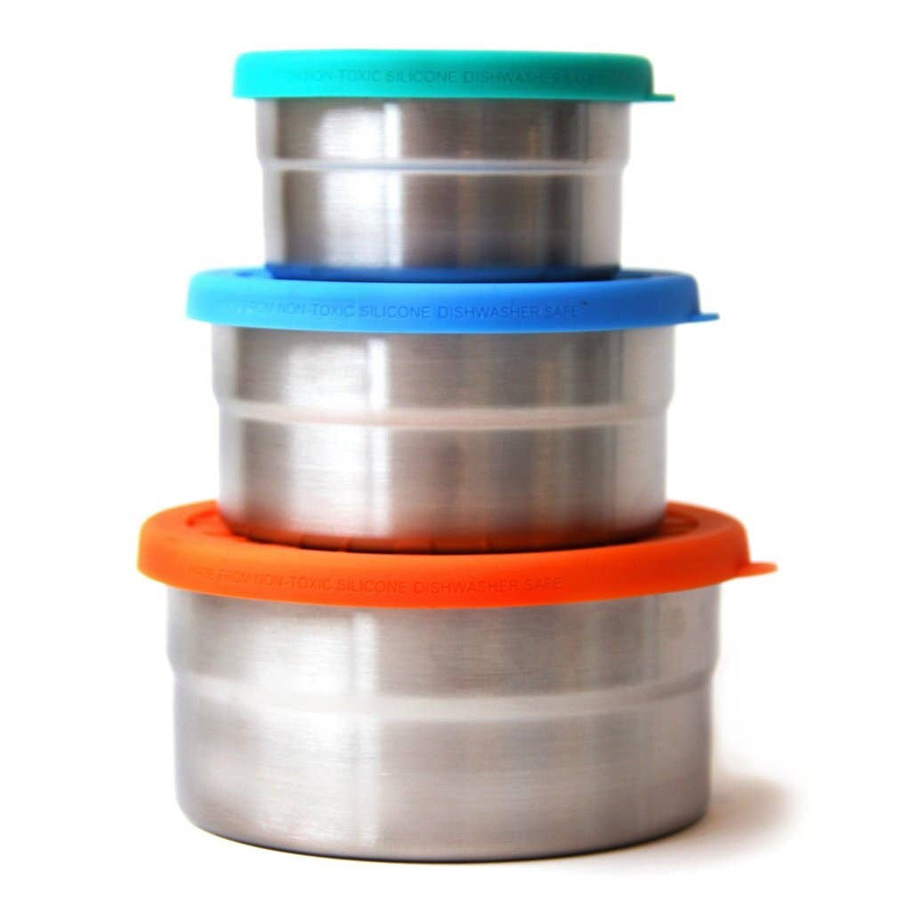 Blue Water Bento Seal Cup Trio by ECOlunchbox
