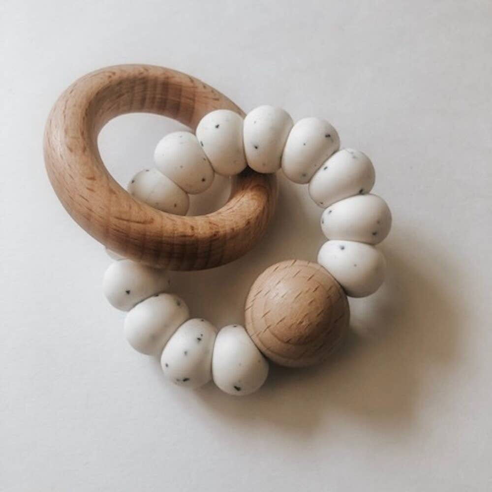 Pretty Please Autumn Levi Rattle - Speckled Ivory