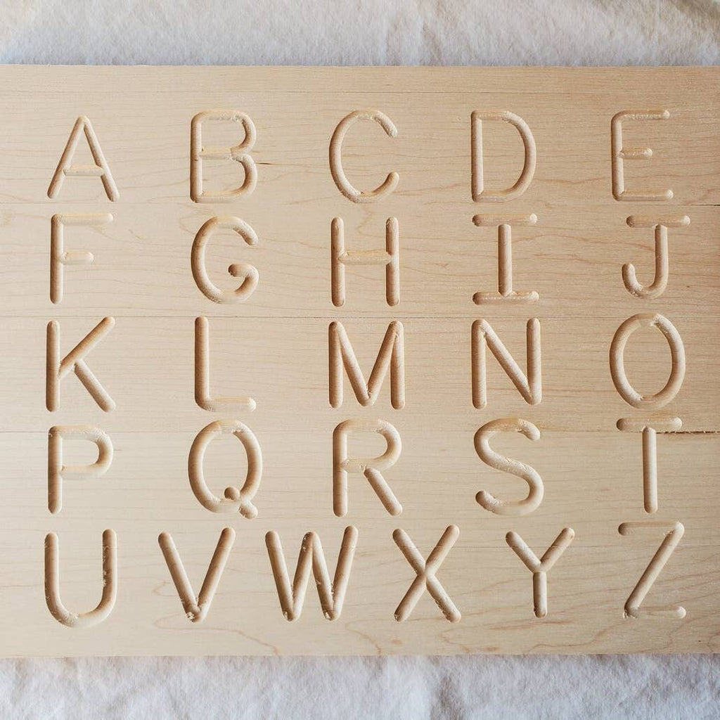Uppercase + Lowercase Alphabet Wooden Tracing Board