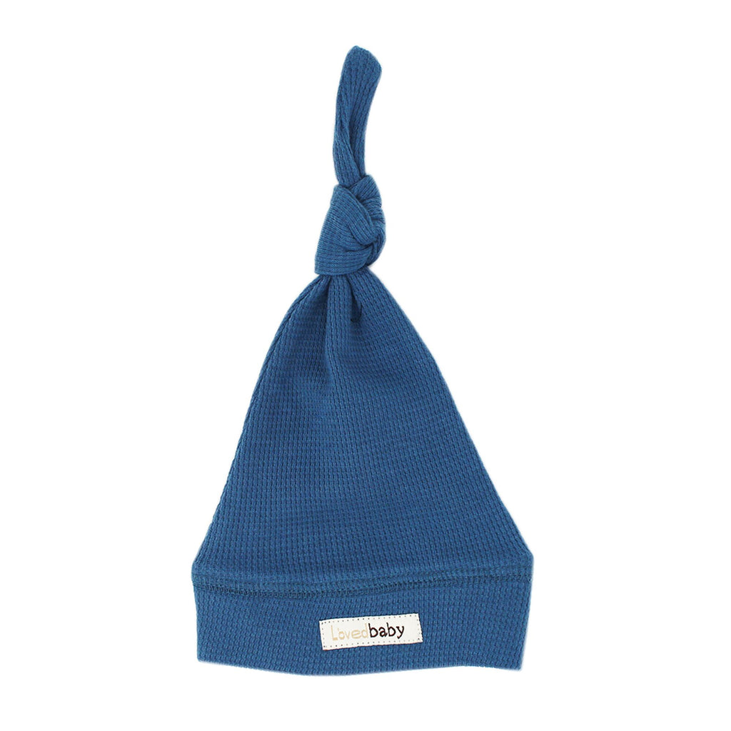 L'ovedbaby Organic Thermal Knotted Cap - Azure