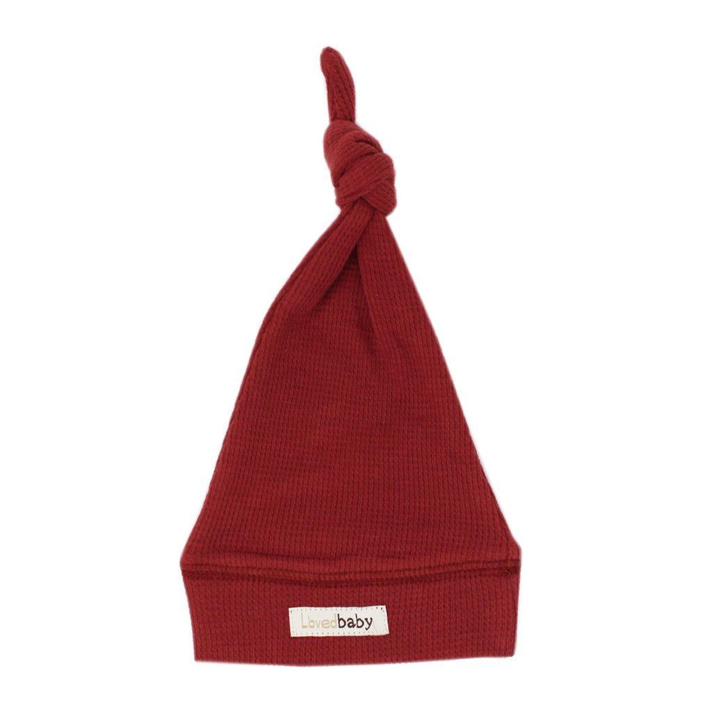 L'ovedbaby Organic Thermal Knotted Cap - Brick