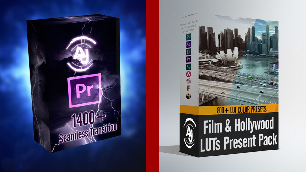 1400+ SeamlessTransitions & 800+ Film & Hollywood LUTs