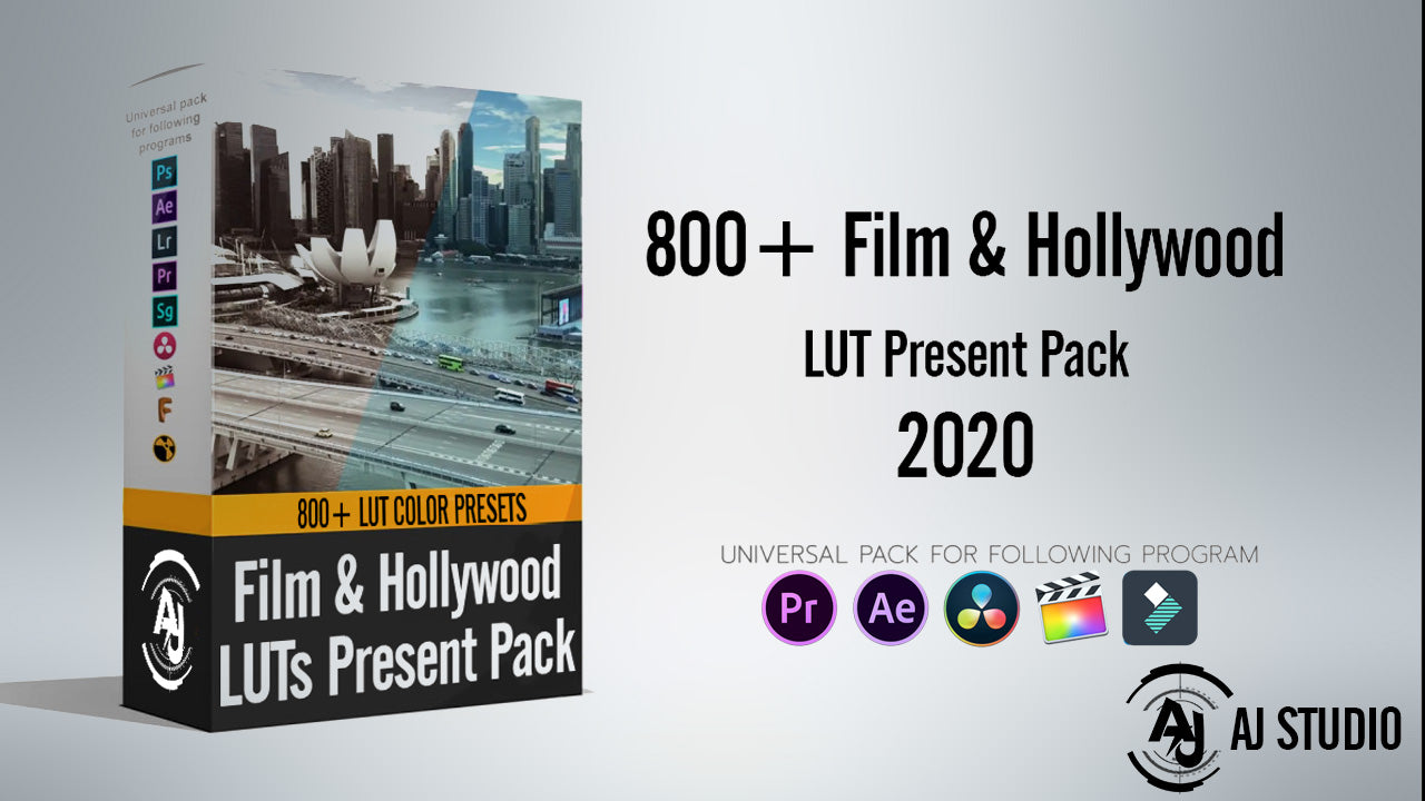 800+ Film & Hollywood Looks | LUT Color For All Editing Software