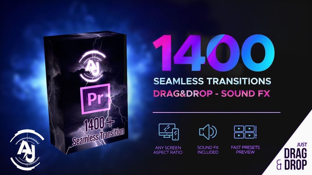 AJ Studio Seamless Transitions | 1400+ Transitions for Premiere Pro