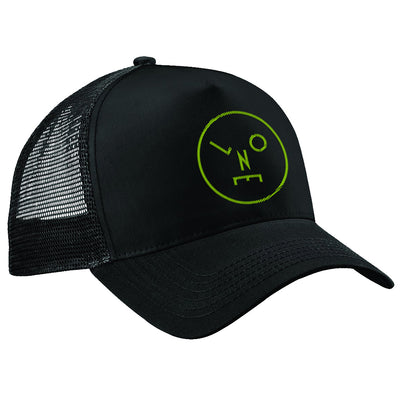 Circle Logo Lime Green Embroidered Trucker Cap-lnoearth