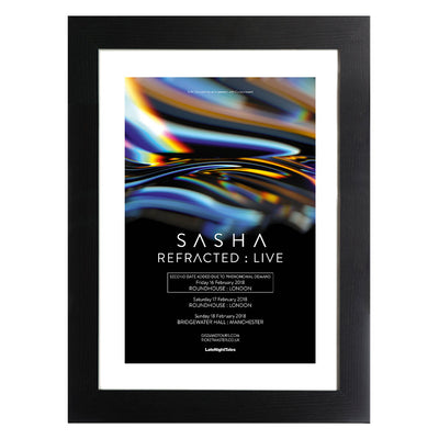 DJ Shasha Refracted Live Poster A3 and A4 Prints (framed or unframed)-lnoearth