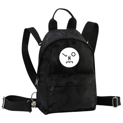 LNOE Circle Logo Solid White Camo Mini Backpack-lnoearth