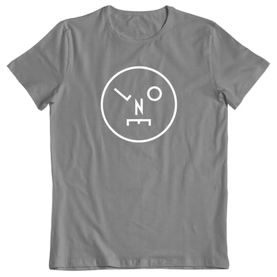 LNOE Circle Logo White Grey Men's T-Shirt-lnoearth