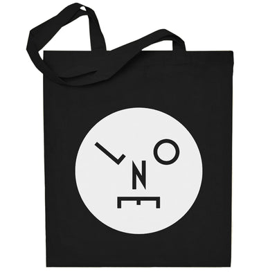 Circle Logo Solid White Cotton Tote Bag-lnoearth