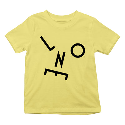 LNOE Letters Black Kid's Yellow T-Shirt-lnoearth