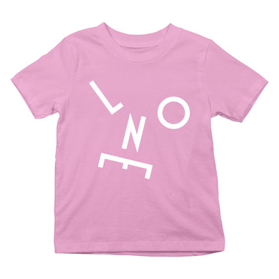 LNOE Letters White Kid's Light Pink T-Shirt-lnoearth