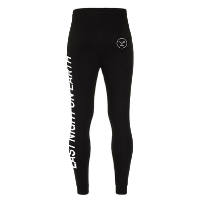 LNOE Men's Black Tapered Track Pants-lnoearth