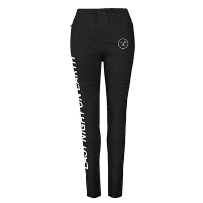 LNOE Women's Black Tapered Track Pants-lnoearth