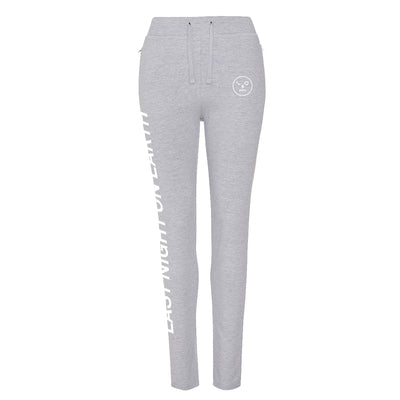 LNOE Women's Heather Grey Tapered Track Pants-lnoearth