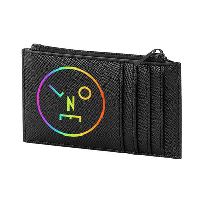 LNOE Circle Logo Shimmer Boutique Leather Look Card Wallet-lnoearth