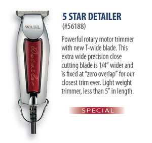 WAHL PROFESSIONAL 5 STAR DETAILER®  PROFESSIONAL LIGHTWEIGHT T-WIDE BLADE TRIMMER