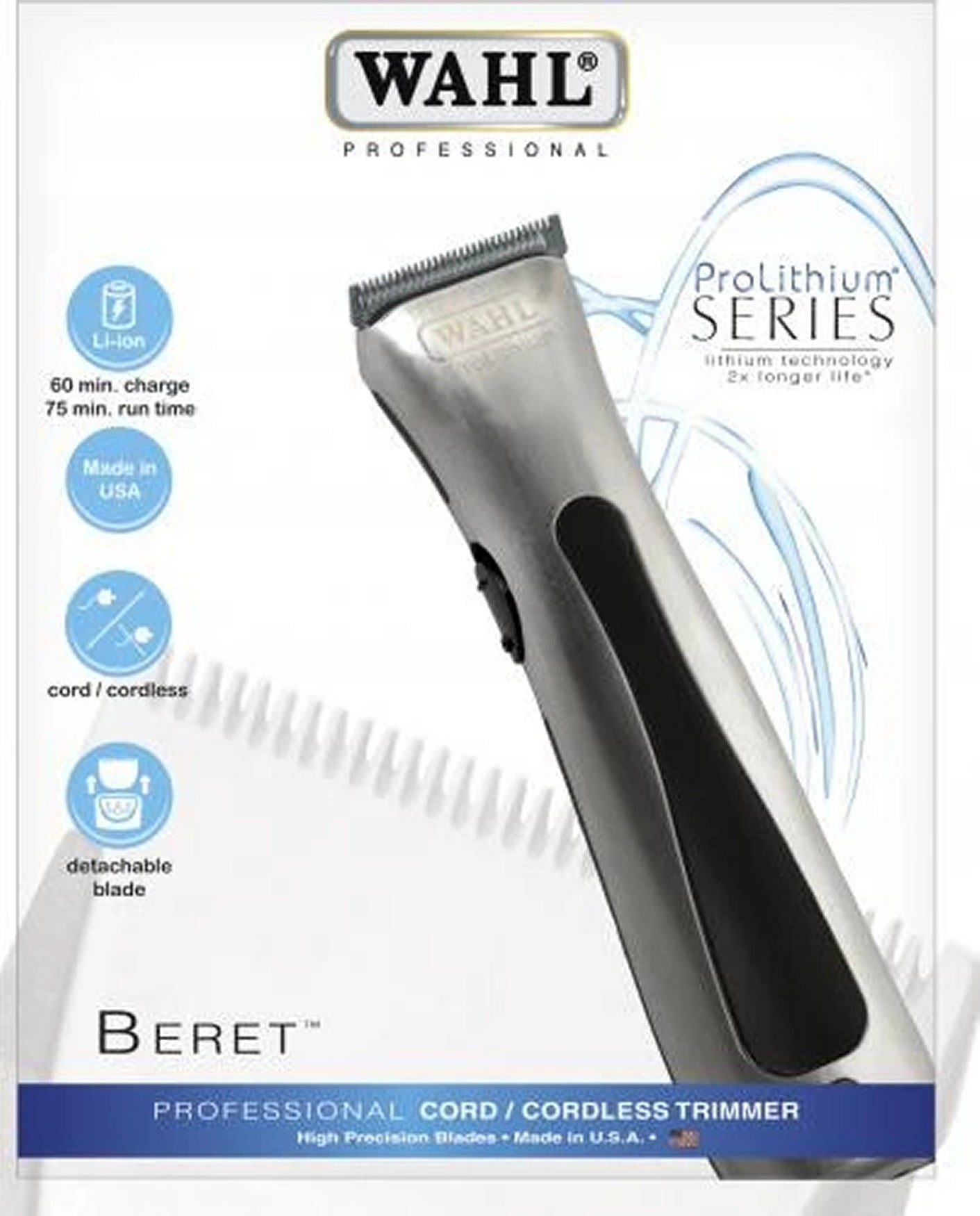 WAHL PROFESSIONAL LITHIUM BERET™ TRIMMER