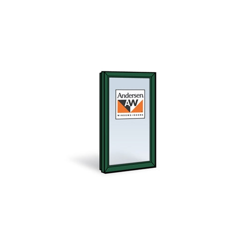 Andersen CXW35 Casement Sash with Low-E4 Glass in Forest Green Color