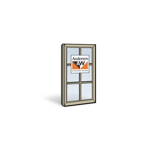 Andersen C3 Casement Sash with Low-E4 Glass and Grilles in Sandtone Color