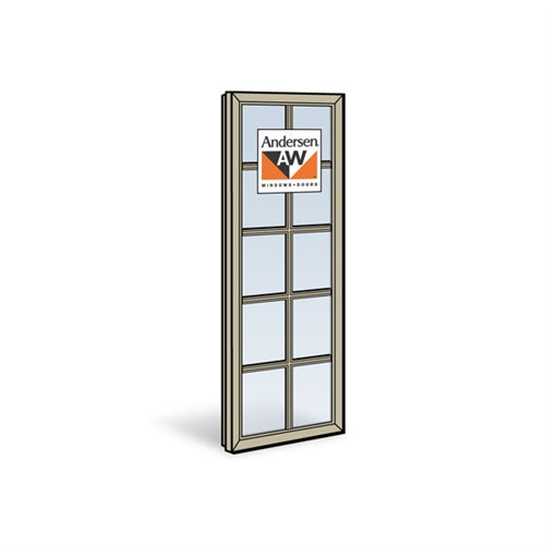 Andersen CXW55 Casement Sash with Low-E4 Glass and Grilles in Sandtone Color